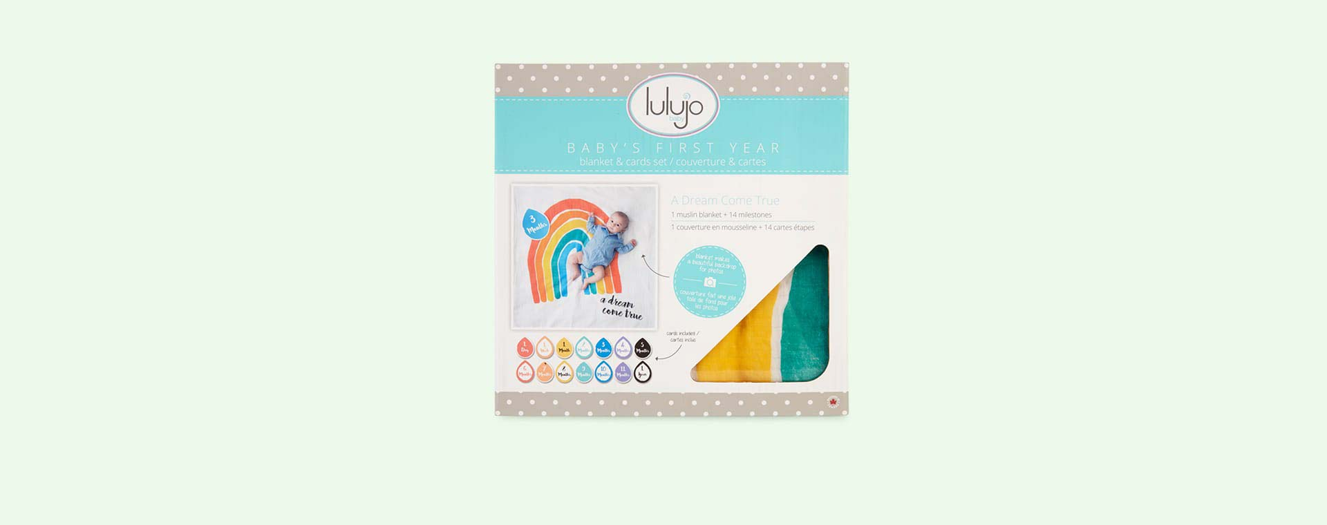 Dreams Come True Lulujo Milestone Cards & Blanket Set