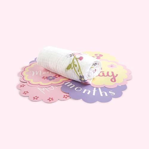 Lovely Lulujo Milestone Cards & Blanket Set