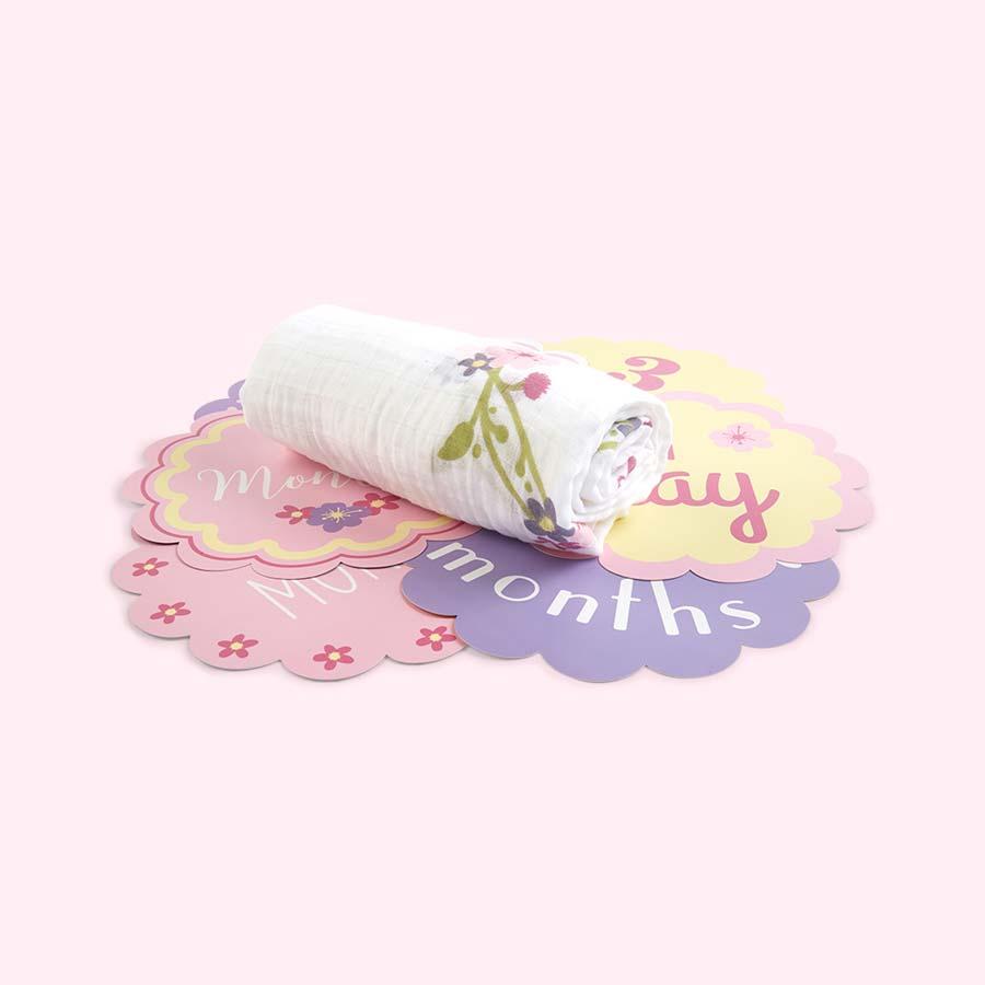 Lovely Lulujo Milestone Cards & Blanket Set