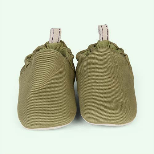 Olive Green Poco Nido Canvas Mini Shoes