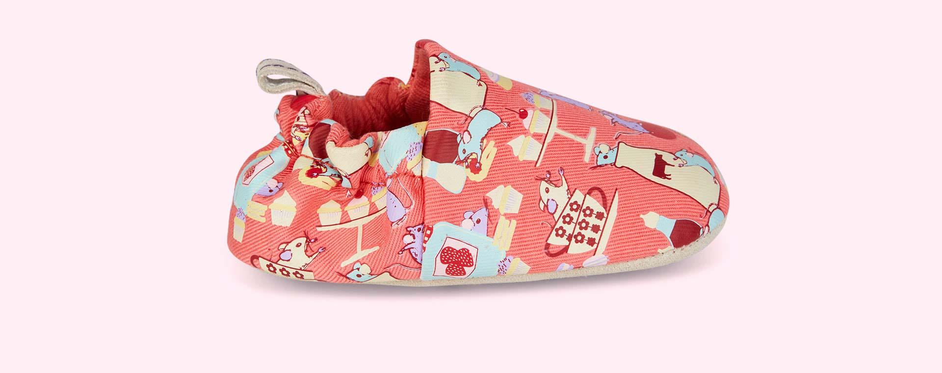 Mice Poco Nido Printed Mini Shoes