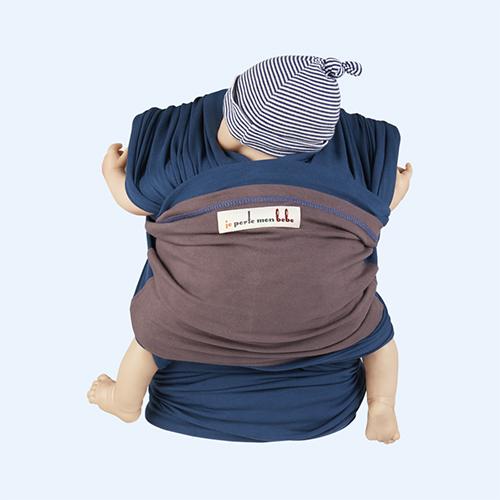 Teal Je Porte Mon Bebe Original Baby Wrap