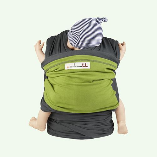 Pistachio Grey Je Porte Mon Bebe Original Baby Wrap