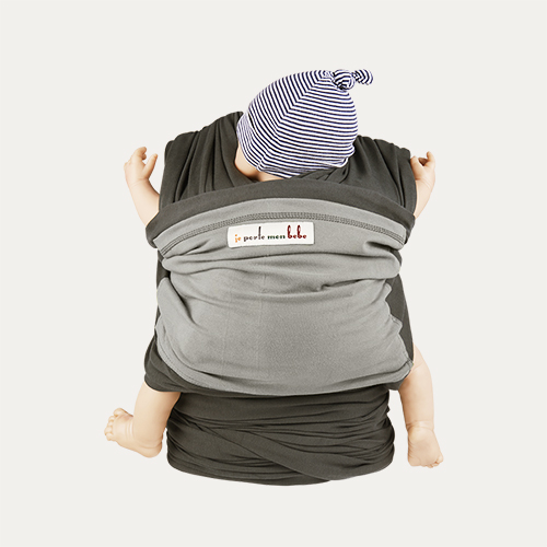 Elephant Light Grey Je Porte Mon Bebe Original Baby Wrap