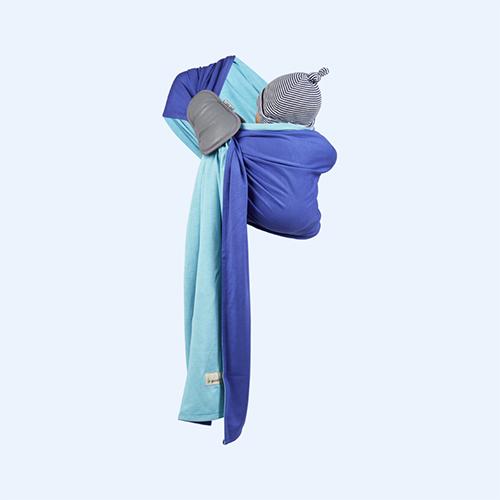 Turquoise Iris Je Porte Mon Bebe Little Baby Wrap Ring Sling