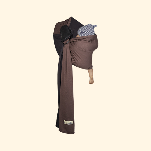 Grey/ Glazed Brown Je Porte Mon Bebe Little Baby Wrap Ring Sling