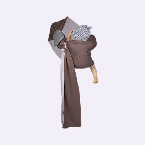 Lavender/Glazed Brown Je Porte Mon Bebe Little Baby Wrap Ring Sling