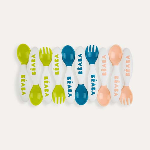 Multi Beaba Second Stage Training Spoon & Fork Set -10 Pack