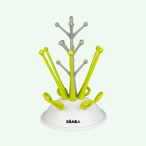 neon Beaba Baby Bottle Draining Rack