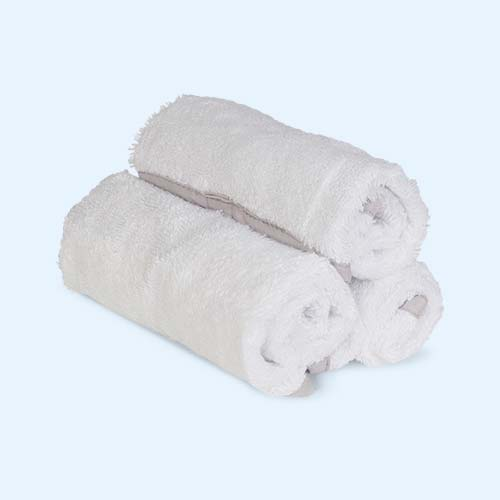 White Shnuggle Baby Wash Cloths - 3 Pack