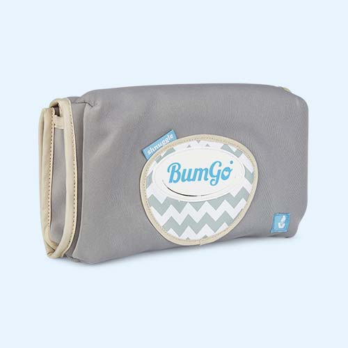 Grey Shnuggle Bumgo Baby Changing Wrap