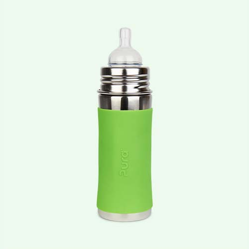 Green Pura 11oz Infant Bottle