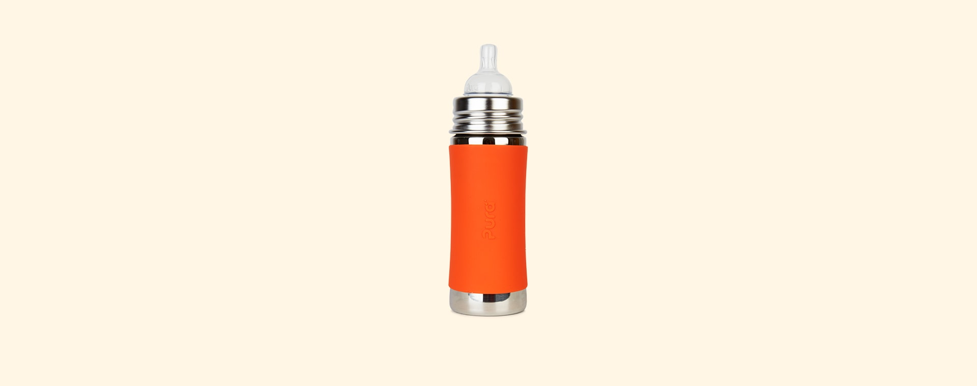 Orange Pura 11oz Infant Bottle