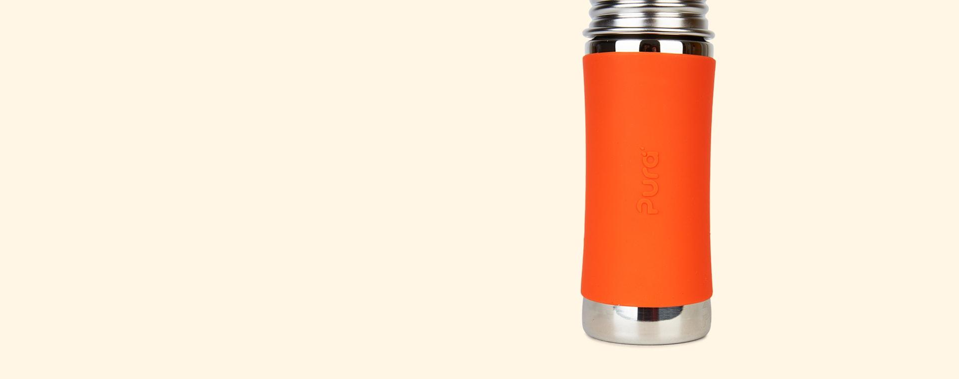 Orange Pura 11oz Infant Bottle