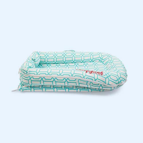 Minty Trellis Sleepyhead Deluxe+ Baby Pod