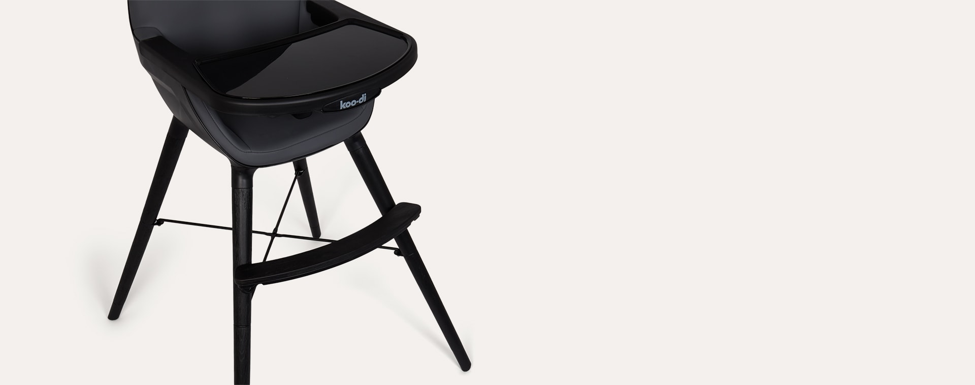Charcoal Koo-di Duo Wooden Highchair