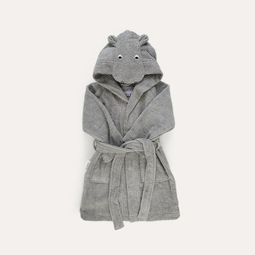 Hippo dove blue Liewood Lily Bathrobe