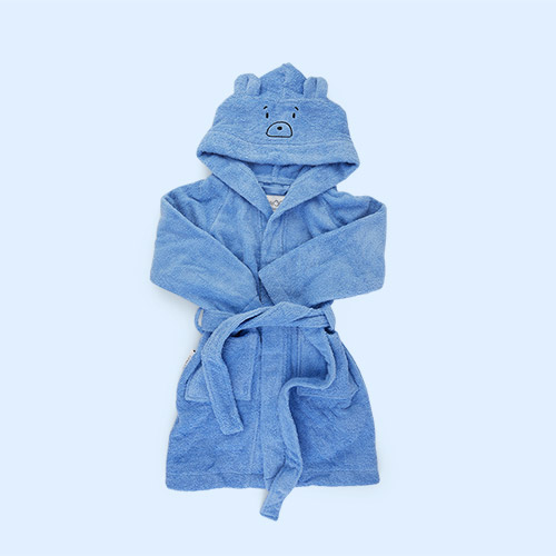 Mr Bear Sky Blue Liewood Lily Bathrobe