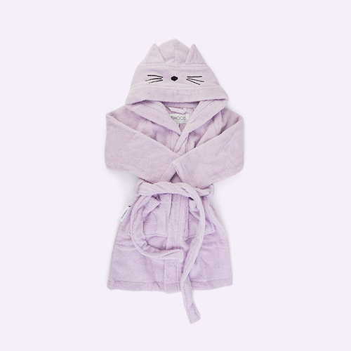 Cat Light Lavender Liewood Lily Bathrobe