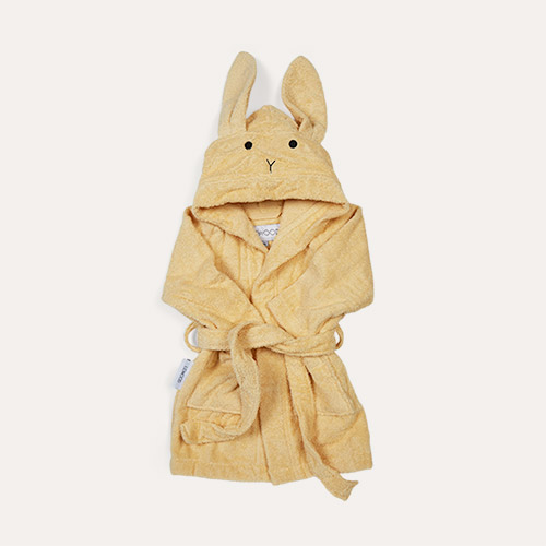 Rabbit Smoothie Yellow Liewood Lily Bathrobe