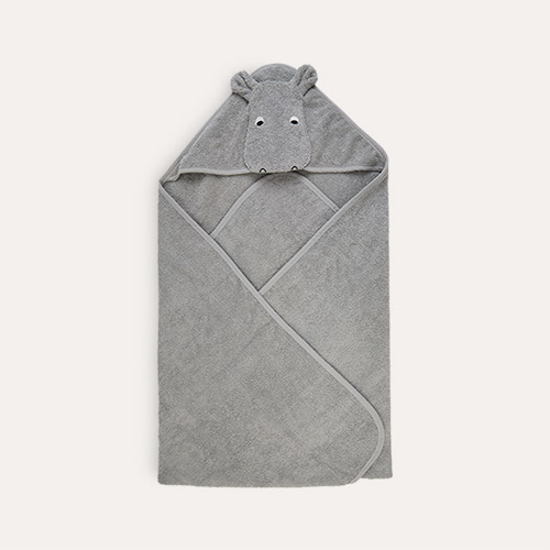 Hippo dove blue Liewood Augusta Hooded Towel