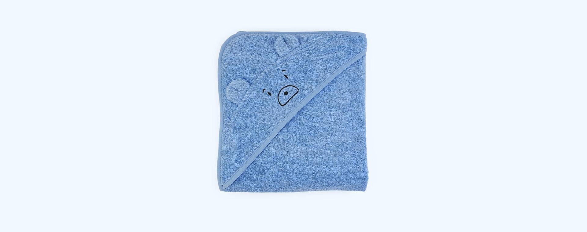 Mr Bear Sky Blue Liewood Augusta Hooded Towel