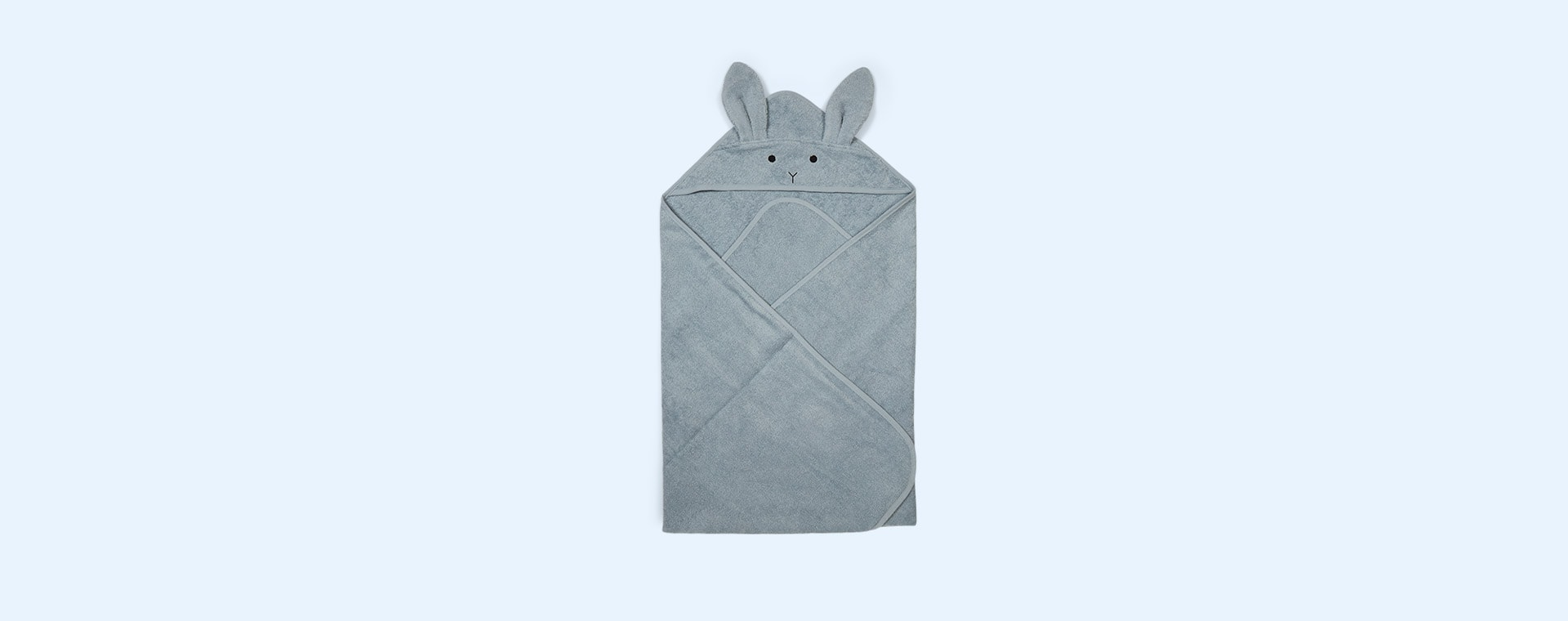 Rabbit Sea Blue Liewood Augusta Hooded Towel