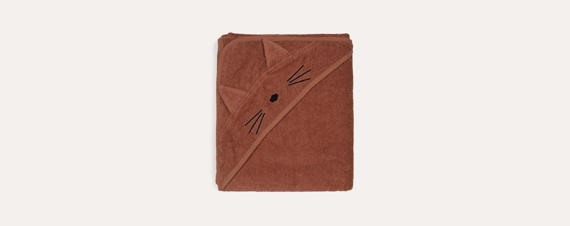 Cat Terracotta Liewood Augusta Hooded Towel