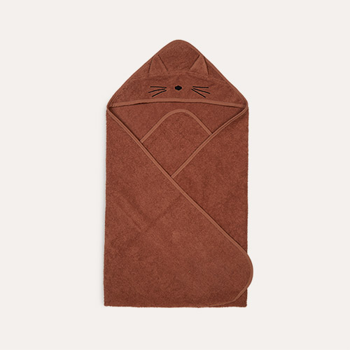 Cat Terracotta Liewood Augusta Hooded Towel
