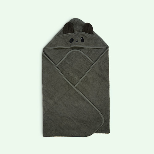 Panda Hunter Green Liewood Augusta Hooded Towel