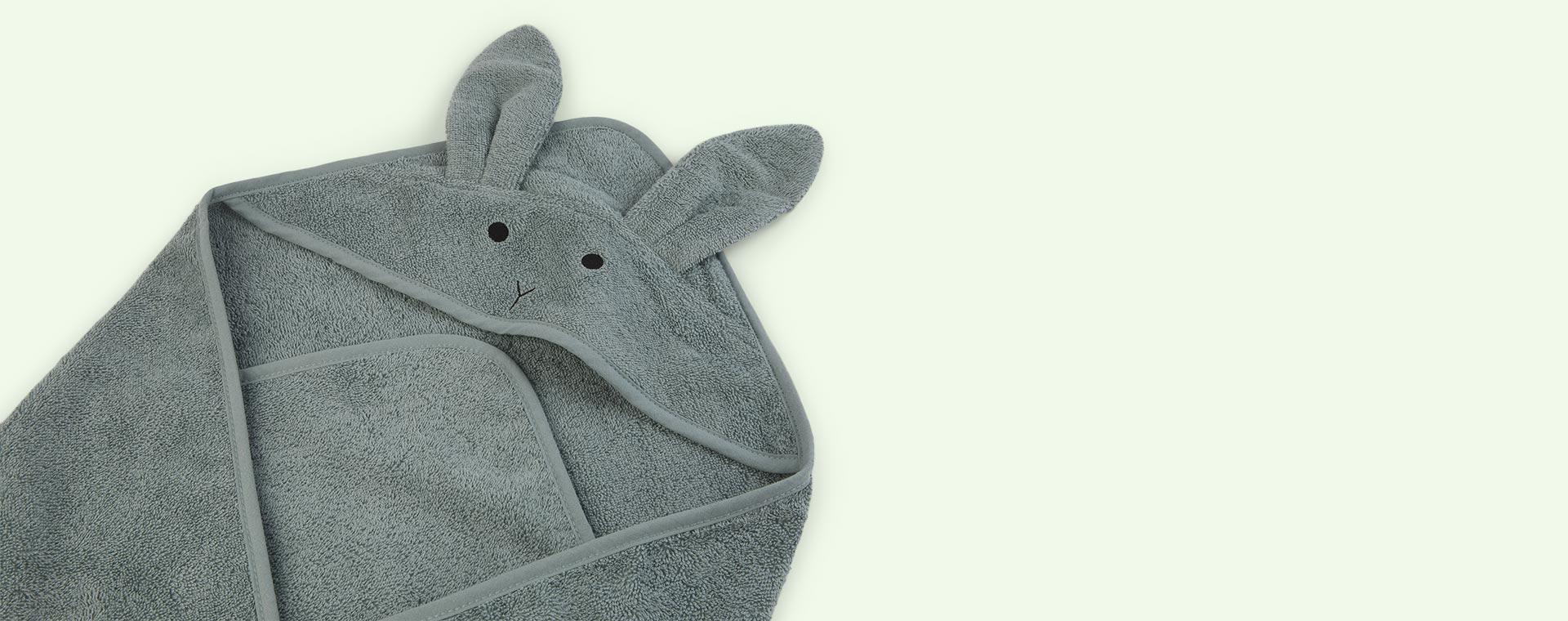 Rabbit peppermint Liewood Augusta Hooded Towel