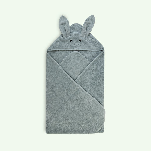 Rabbit peppermint Liewood Augusta Hooded Towel