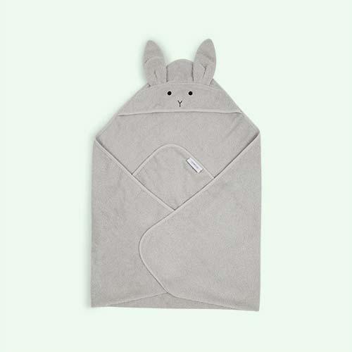 Rabbit Dumbo Grey Liewood Augusta Hooded Towel