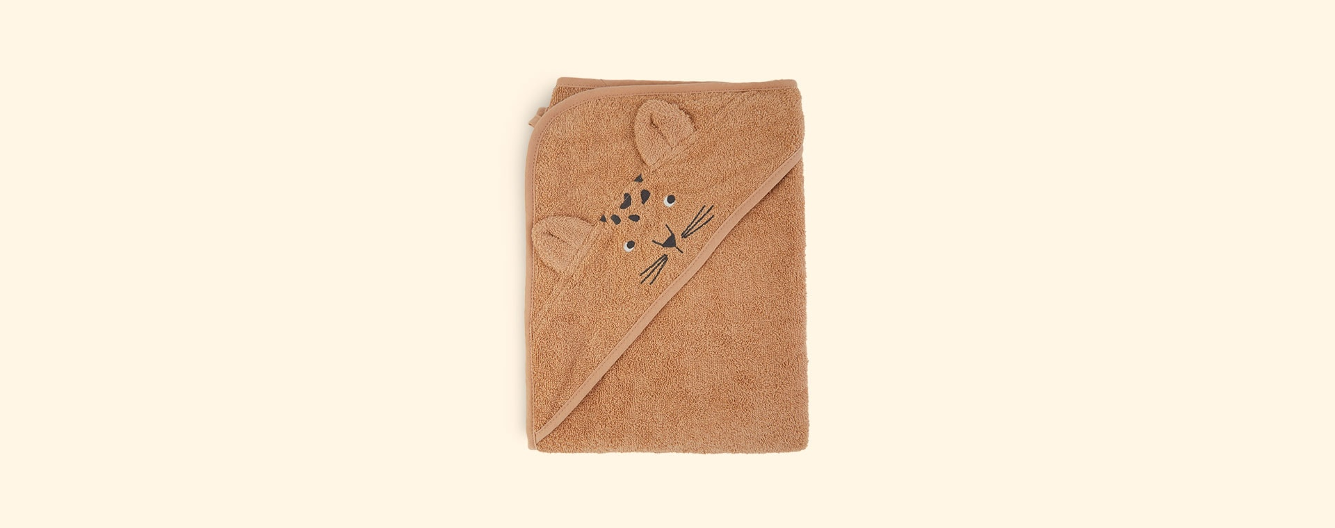 Leopard apricot Liewood Augusta Hooded Towel