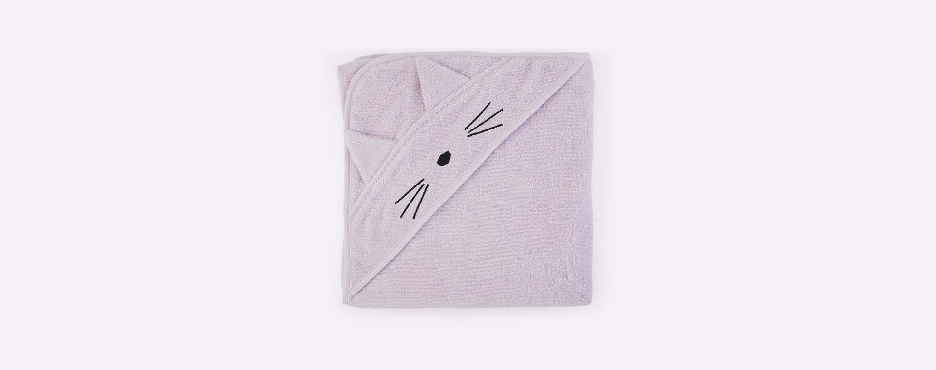 Cat Light Lavender Liewood Augusta Hooded Towel