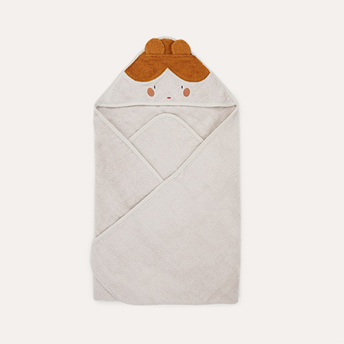 Doll/Sandy Mix Liewood Augusta Hooded Towel