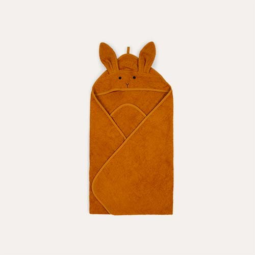 Rabbit Mustard Liewood Augusta Hooded Towel