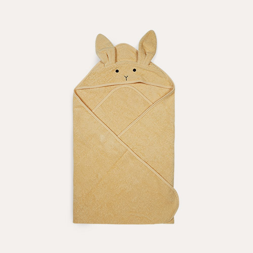 Rabbit Smoothie Yellow Liewood Augusta Hooded Towel