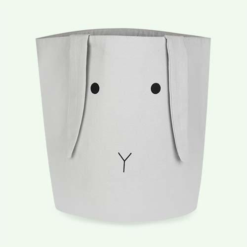 Rabbit Bumbo Grey Liewood Ella Fabric Basket