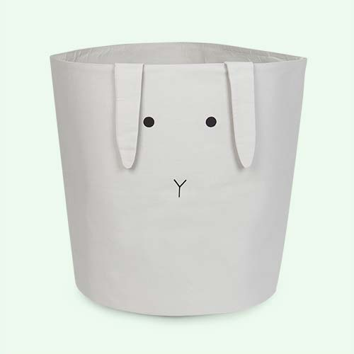 Rabbit Bumbo Grey Liewood Aya Fabric Basket