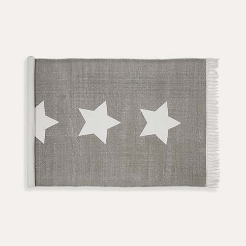 Grey White Star Minene Kids' Rug