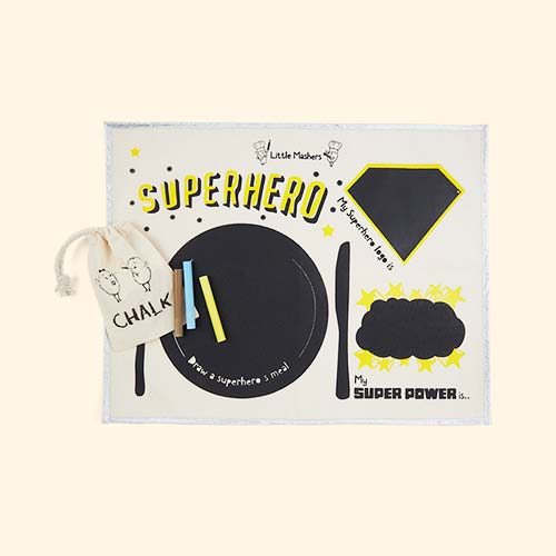 Superhero Little Mashers Chalkboard Placemat