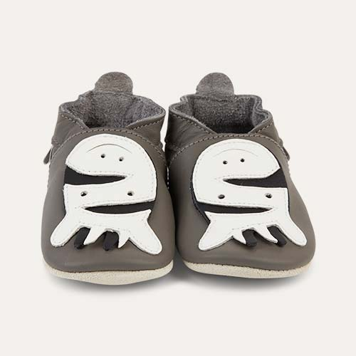 Grey Bobux Zebra Soft Sole