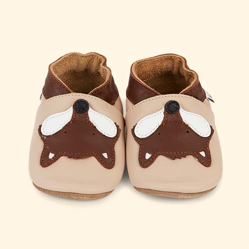 Beige Bobux Fox Soft Sole