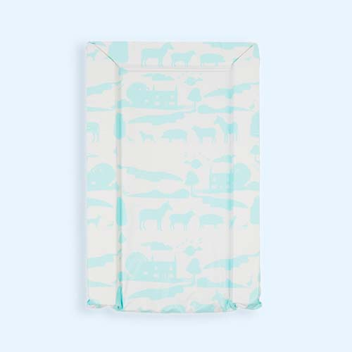 Aqua East Coast Nursery On The Farm Changing Mat