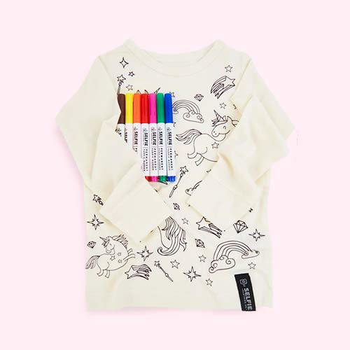 Unicorn Selfie Clothing Co Colour-In Top