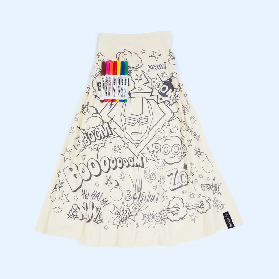 Buy The Selfie Clothing Co Colour-In Cape At KIDLY UK