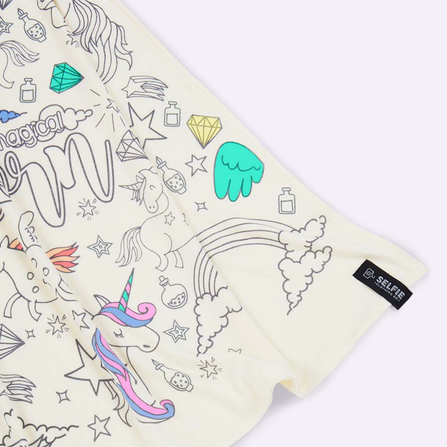 Unicorn Selfie Clothing Co Colour-In Cape