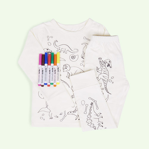Dinosaur Selfie Craft Co Colour-In Pyjamas
