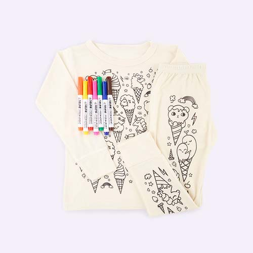 Ice Cream Selfie Clothing Co Colour-In Pyjamas 3-4 years